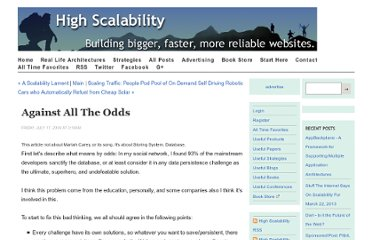 http://highscalability.com/against-all-odds