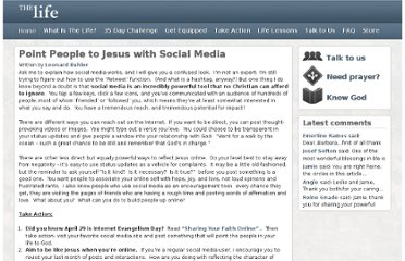 http://powertochange.com/blogposts/2012/04/23/share-faith-social-media/