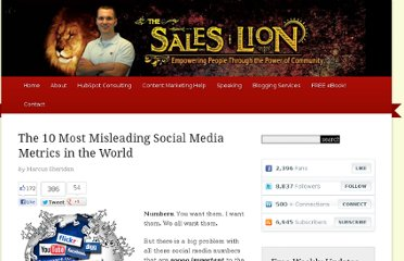 http://www.thesaleslion.com/misleading-social-media-metrics-world/