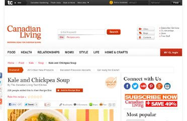 http://www.canadianliving.com/food/kale_and_chickpea_soup.php