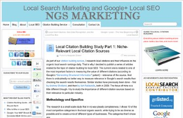 http://www.ngsmarketing.com/local-citation-building-study-part-1-niche-relevant-local-citation-sources/