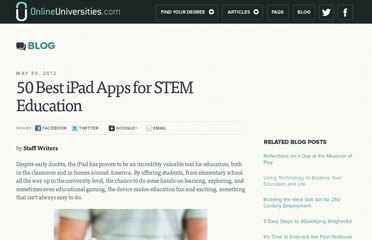 http://www.onlineuniversities.com/blog/2012/05/50-best-ipad-apps-for-stem-education/