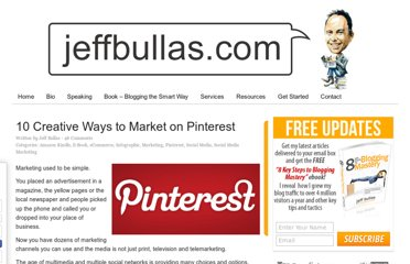 http://www.jeffbullas.com/2012/05/31/10-creative-ways-to-market-on-pinterest/