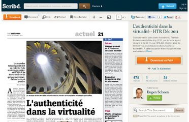http://fr.scribd.com/doc/75397924/L-authenticite-dans-la-virtualite-HTR-Dec-2011