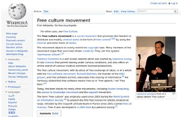 http://en.wikipedia.org/wiki/Free_culture_movement