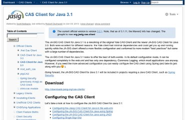 https://wiki.jasig.org/display/CASC/CAS+Client+for+Java+3.1