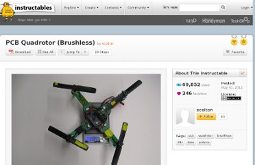 http://www.instructables.com/id/PCB-Quadrotor-Brushless/