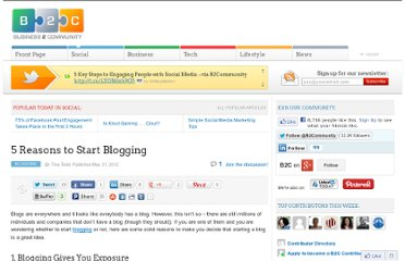 http://www.business2community.com/blogging/5-reasons-to-start-blogging-0187854