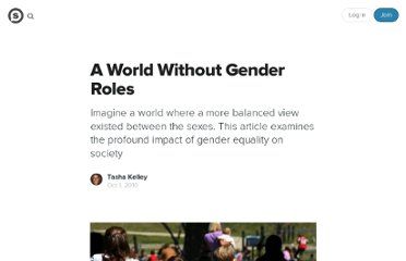 http://suite101.com/article/a-world-without-gender-roles-a292031