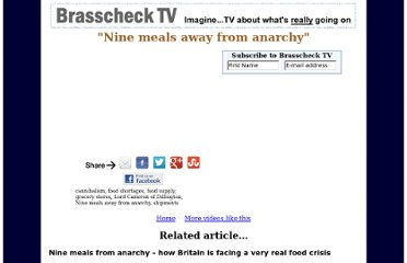http://www.brasschecktv.com/videos/food-1/nine-meals-away-from-anarchy.html#