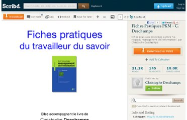 http://fr.scribd.com/doc/22700008/Fiches-Pratiques-PKM-C-Deschamps#fullscreen:on
