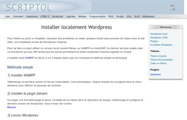 http://www.scriptol.fr/wordpress/installer-localement-wordpress.php