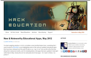 http://www.hackeducation.com/2012/05/31/best-new-educational-apps-may-2012/
