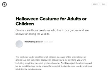 http://suite101.com/article/halloween-costume-for-adults-or-children-a145769