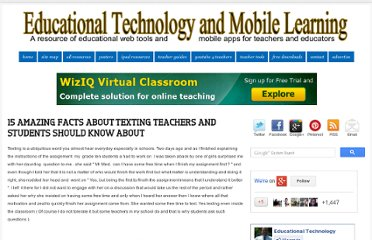 http://www.educatorstechnology.com/2012/05/15-amazing-facts-about-texting-teachers.html#.T8gWwQJcLL4.facebook