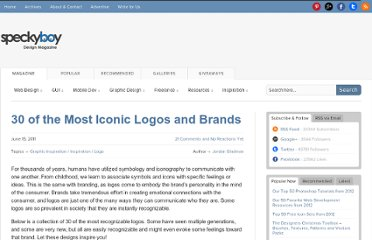 http://speckyboy.com/2011/06/15/30-of-the-most-iconic-logos-and-brands/