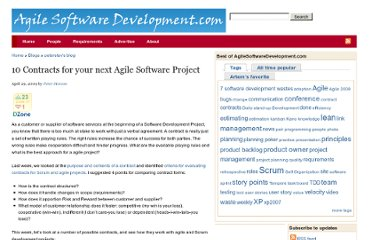 http://agilesoftwaredevelopment.com/blog/peterstev/10-agile-contracts