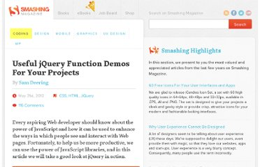 http://coding.smashingmagazine.com/2012/05/31/50-jquery-function-demos-for-aspiring-web-developers/