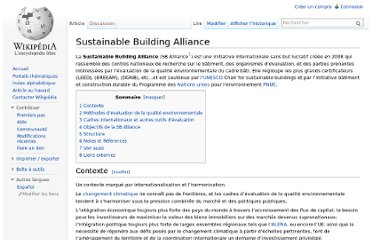 http://fr.wikipedia.org/wiki/Sustainable_Building_Alliance