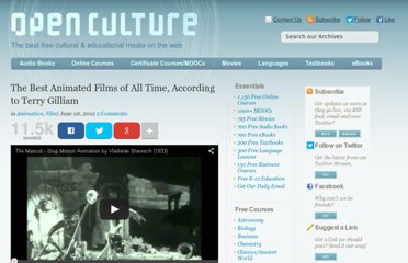 http://www.openculture.com/2012/06/the_best_animated_films_of_all_time_according_to_terry_gilliam.html