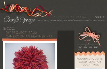 http://www.designsponge.com/2011/06/diy-project-faux-cameroonian-feather-hat.html
