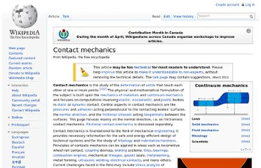 http://en.wikipedia.org/wiki/Contact_mechanics