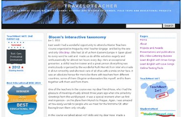 http://traveloteacher.blogspot.com/2012/06/blooms-interactive-taxonomy.html