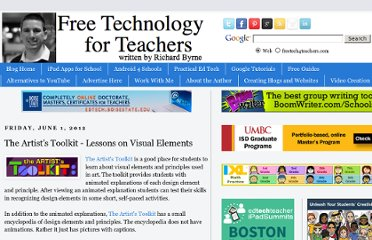 http://www.freetech4teachers.com/2012/06/artists-toolkit-lessons-on-visual.html