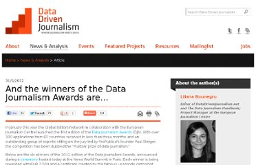 http://datadrivenjournalism.net/news_and_analysis/and_the_winners_of_the_data_journalism_awards_are