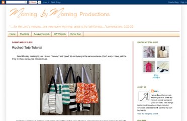 http://morningbymorningproductions.blogspot.com/2012/03/ruched-tote-tutorial.html