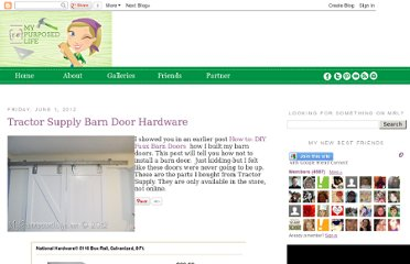 http://www.myrepurposedlife.net/2012/06/tractor-supply-barn-door-hardware.html