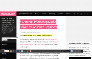 http://www.psdvault.com/basics/5-common-photoshop-myths-solved-for-absolute-beginners/