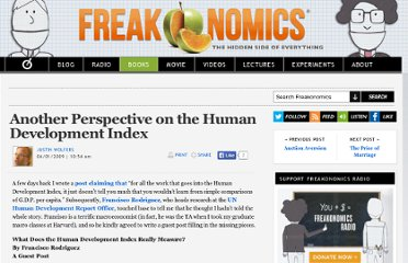 http://www.freakonomics.com/2009/06/01/another-perspective-on-the-human-development-index/