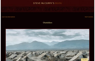 http://stevemccurry.wordpress.com/2012/06/01/outsiders/