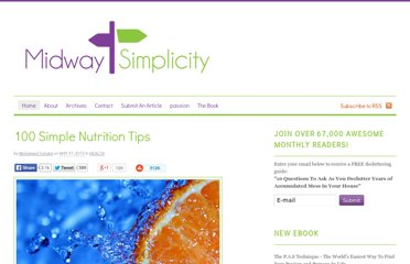 http://midwaysimplicity.com/100-simple-nutrition-tips/
