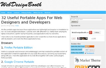 http://www.webdesignbooth.com/32-useful-portable-apps-for-web-designers-and-developers/