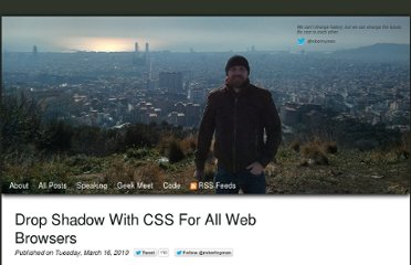 http://robertnyman.com/2010/03/16/drop-shadow-with-css-for-all-web-browsers/
