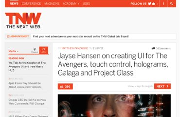 http://thenextweb.com/media/2012/06/02/jayse-hansen-on-creating-tools-the-avengers-use-to-fight-evil-touch-interfaces-and-project-glass/