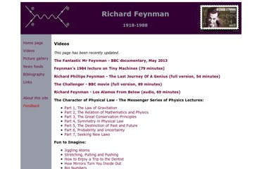 http://www.richard-feynman.net/videos.htm