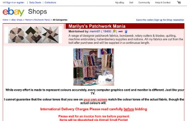 http://stores.ebay.co.uk/Marilyns-Patchwork-Mania