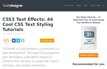http://www.1stwebdesigner.com/css/advanced-css-text-effects-web-typography-tips/