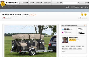 http://www.instructables.com/id/Homebuilt-Camper-Trailer/