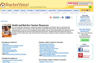 http://www.teachervision.fen.com/health/teacher-resources/43745.html