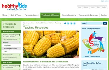 http://www.healthykids.nsw.gov.au/teachers-childcare/nutrition-primary-school/primary-nutrition-teaching-resources.aspx