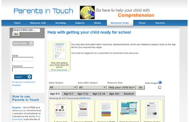 http://www.parentsintouch.co.uk/Help-with-getting-your-child-ready-for-school