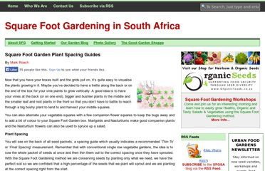 http://sfgsa.co.za/getting-started/planting-and-spacing/square-foot-garden-plant-spacing-guides/