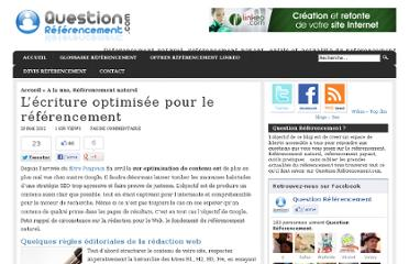 http://question-referencement.linkeo.com/lecriture-optimisee-pour-le-referencement/