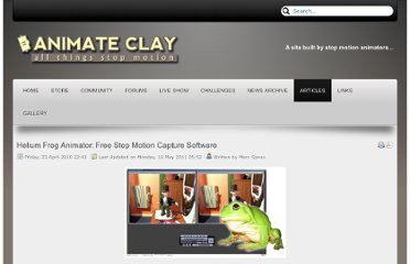 http://www.animateclay.com/index.php/articles/72-free-downloads/130-helium-frog-animator-free-stop-motion-capture-software