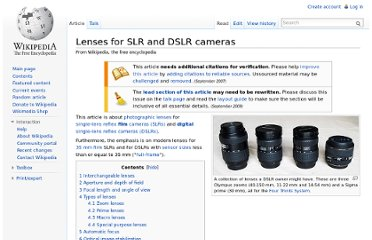 http://en.wikipedia.org/wiki/Lenses_for_SLR_and_DSLR_cameras