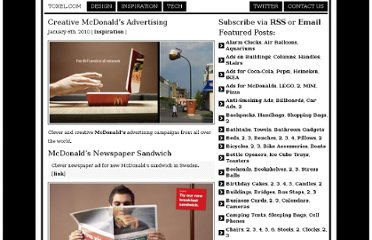 http://www.toxel.com/inspiration/2010/01/06/clever-and-creative-mcdonalds-advertising/